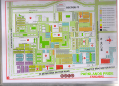 Map Of PE,PC,PA,PF Block of BPTP Parklands
