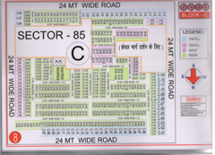 Map Of C Block of BPTP Parklands