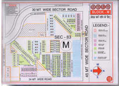 Map Of M Block of BPTP Parklands