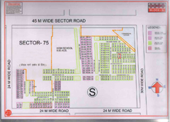 Map Of S Block of BPTP Parklands