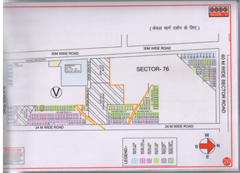 Map Of V Block of BPTP Parklands