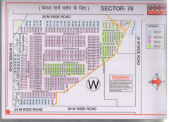 Map Of W Block of BPTP Parklands