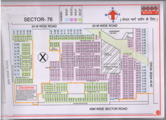 Map Of X Block of BPTP Parklands