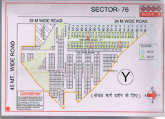 Map Of Y Block of BPTP Parklands