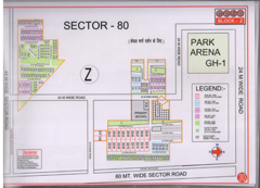 Map Of Z Block of BPTP Parklands